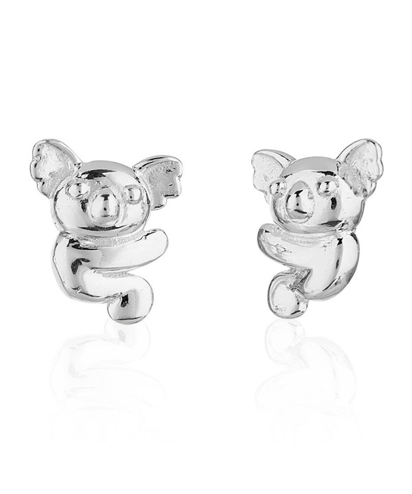 Childrens Sterling Silver Koala Earrings