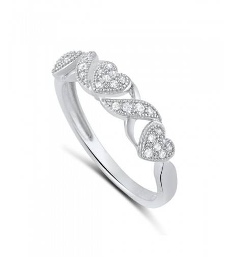 Sterling Silver Thin Heart Stackable