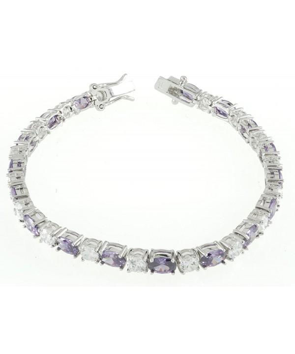 Womens Sterling Silver Tennis Bracelet