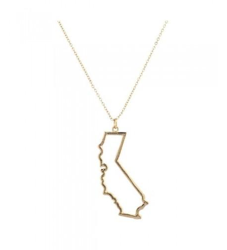 Lux Accessories Goldtone California Necklace