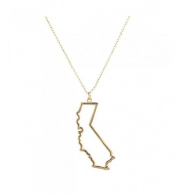 Lux Accessories Goldtone California Necklace