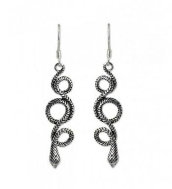 NOVICA Sterling Earrings Infinity Serpent