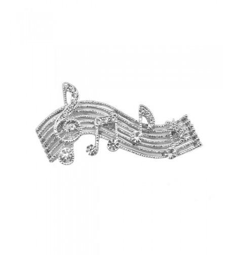 chelseachicNYC Crystal Melody Brooch Silver