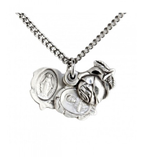 Sterling Silver Miraculous Pendant Rhodium