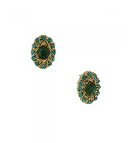 1928 Jewelry Signature Emerald Color Earrings