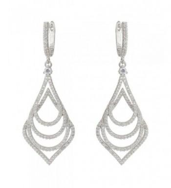 EVER FAITH Silver Tone Wedding Earrings