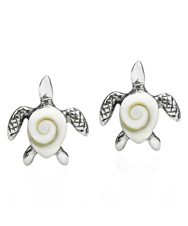 Mother Turtle Sterling Silver Earrings