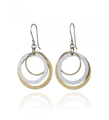 Dangle Earrings Sterling Circles Earring