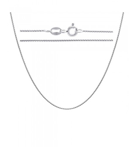 Sterling Silver Chain Necklace Round