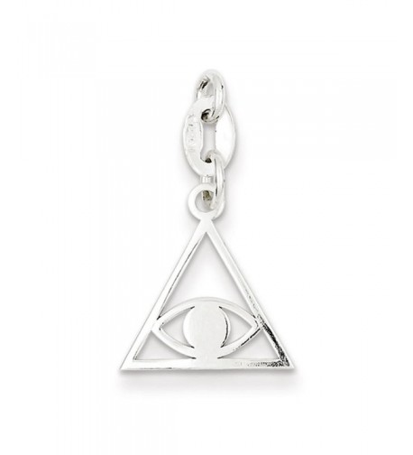 Sterling Silver Polished Evil Charm