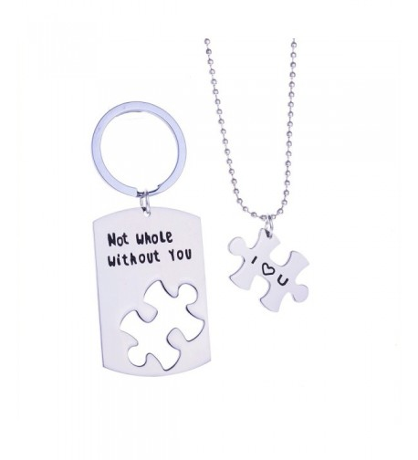 Without Puzzle Pendant Necklace Keychain