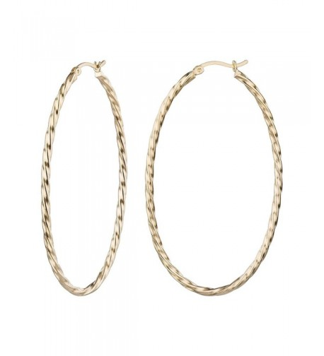 Fashion Gold Twisted Click Top Earrings