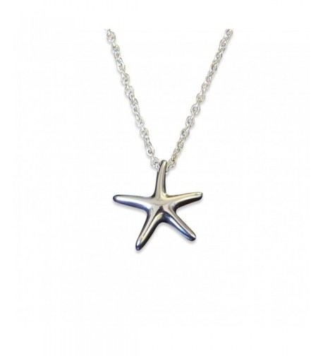 Silver Starfish Secret Cremation Necklace