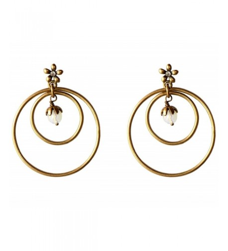 eccessories Double Earrings Flower Hypo Allergenic
