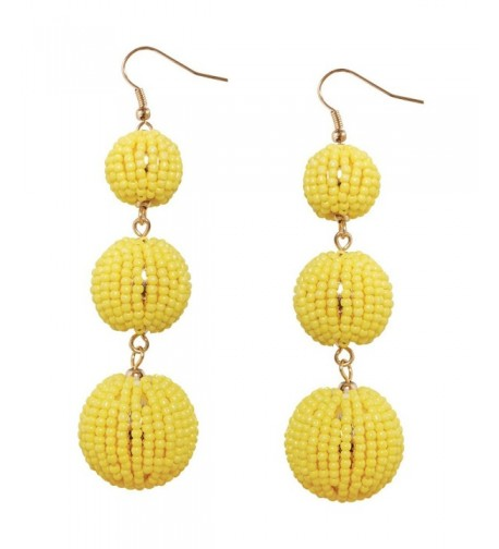 Humble Chic Statement Earrings Gold Tone