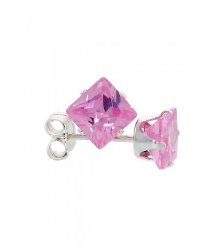 Sterling Silver Zirconia Earrings Princess