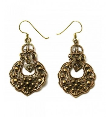 Bohemian Filigree Earrings Vintage Thailand