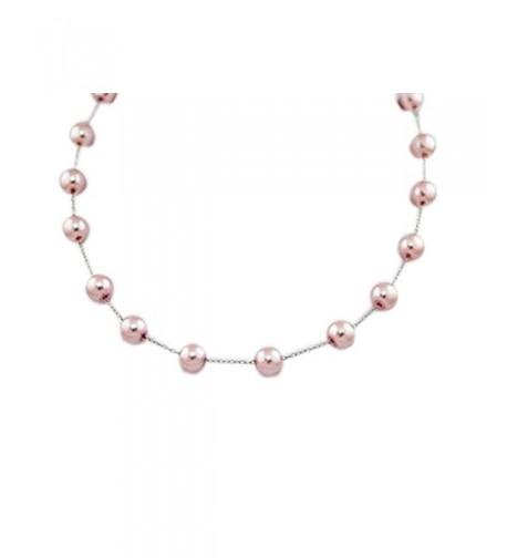 Colored Pearl Necklace Silver Chain