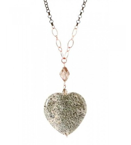 Crystal Natural Stone Heart Necklace