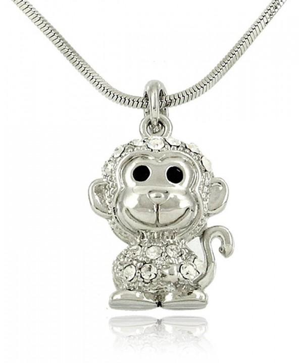 Adorable Necklace Embellished Sparkling Crystals
