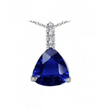 Star Trillion Sapphire Necklace Sterling