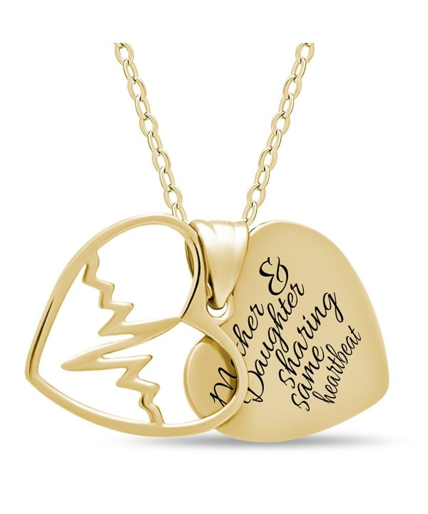Mother Sterling Silver Daughter Necklace