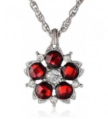 1928 Jewelry Jeweltones Silver Tone Necklace
