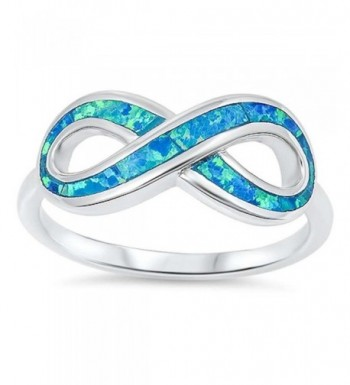 Created Blue Infinity Sterling Silver