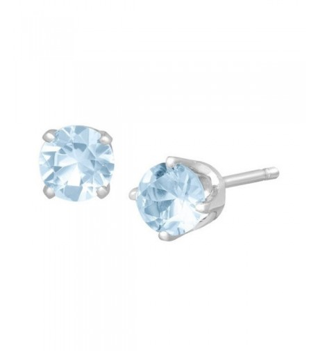 Blue Simulated Aquamarine Sterling cartilage