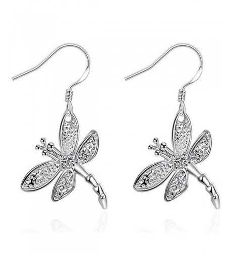 SDLM Sterling Jewelry Dragonfly Earrings