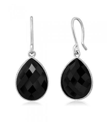 16X12MM Sterling Silver Dangle Earrings