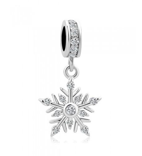 Heart Charms Christmas Snowflake Bracelets