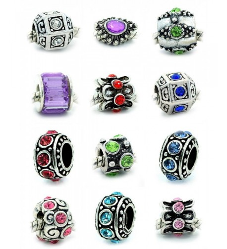 Assorted Crystal Rhinestone Charm Spacers