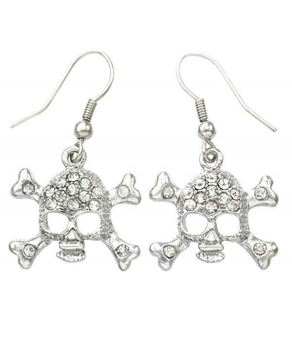 Earrings Crossbones Rhinestones Fashion Jewelry