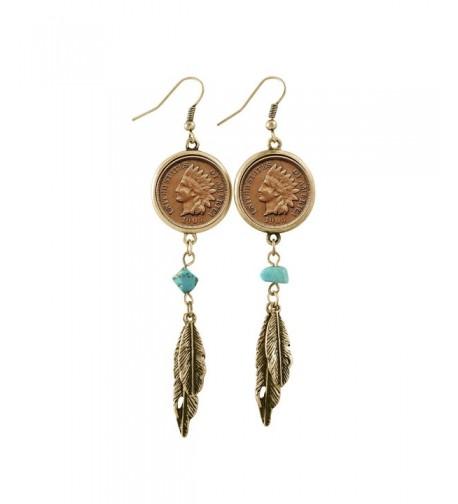 American Coin Treasures Goldtone Earrings