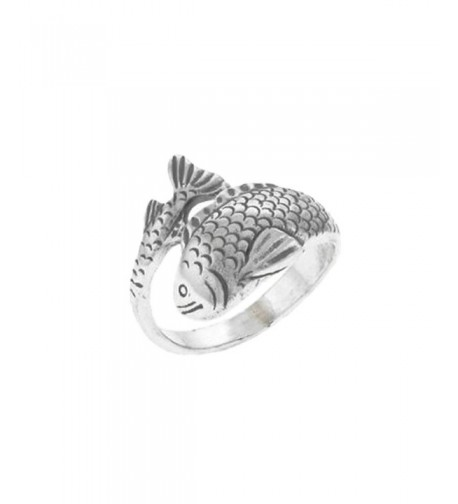 Sterling Silver Japanese Fish Ring
