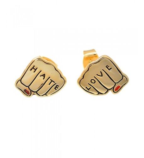 Spinningdaisy Gold Plated Love Earrings