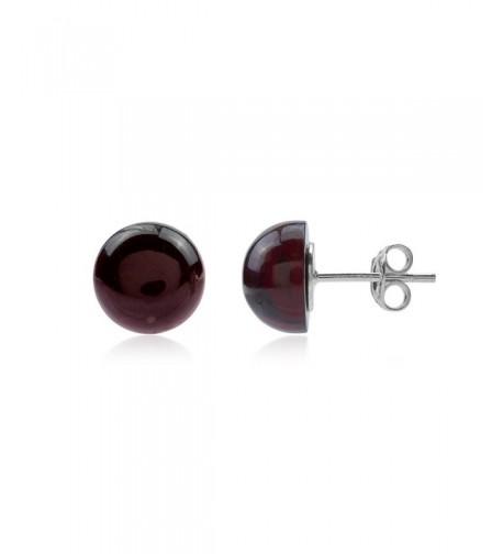 Cherry Amber Sterling Silver Earrings