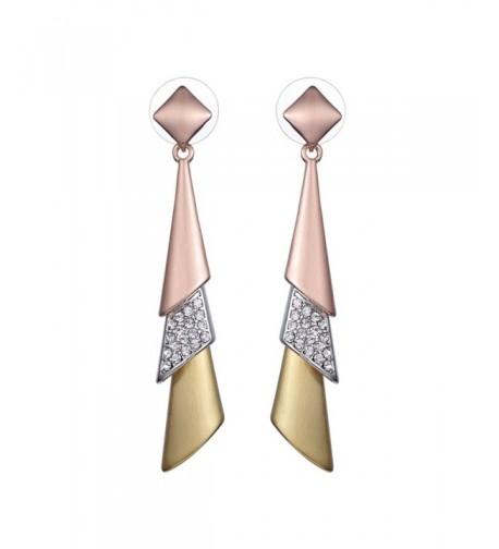 XZP Statement Earrings Zirconia Tricolor