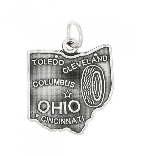 Sterling Silver State Ohio Charm