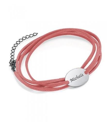 Suede Bracelet Personalized Charm Custom
