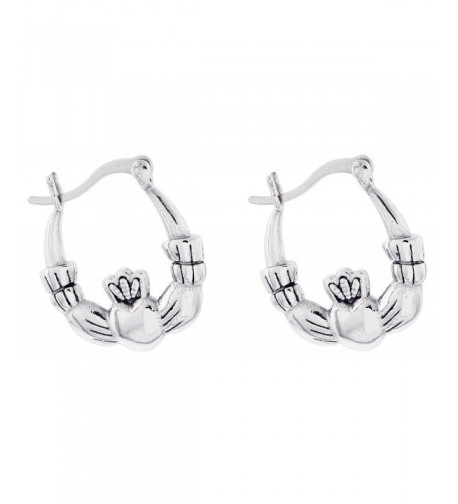Quantum Stainless Steel Claddagh Earrings