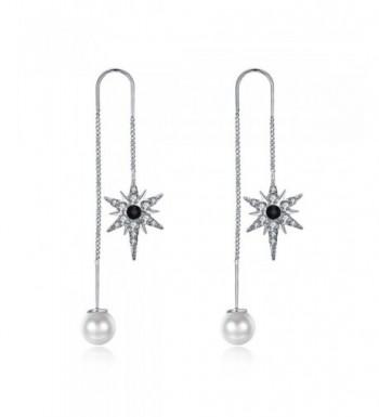 Zirconia Threader Earrings Artificial Jewelry