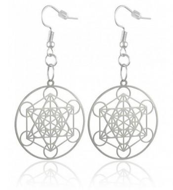 Womens Silver Plated Brass Metatrons Earrings