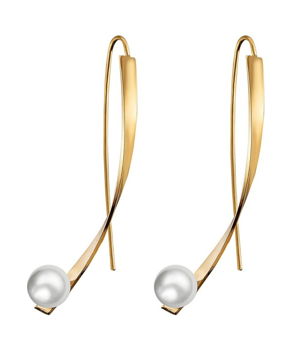 Threader Earrings Simulation Dangle Fashion