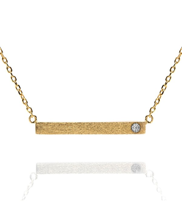 PAVOI Plated Birthstone Necklace Pendant