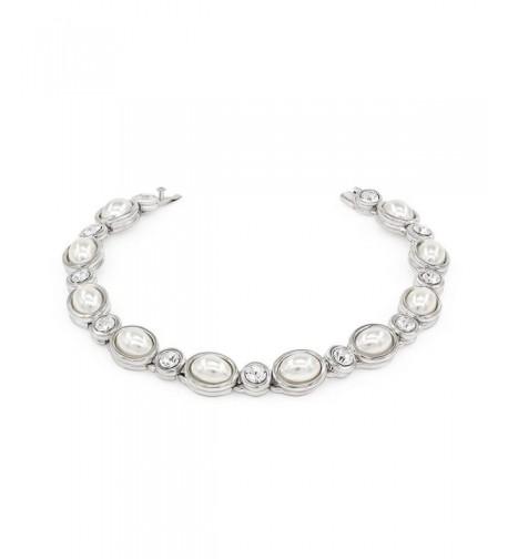 Kemstone Silver Zirconia Simulated Bracelets
