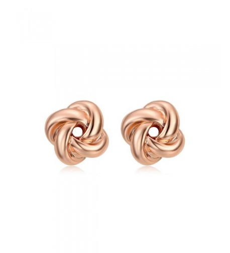 DIFINES Redbarry Plated Love knot Earrings