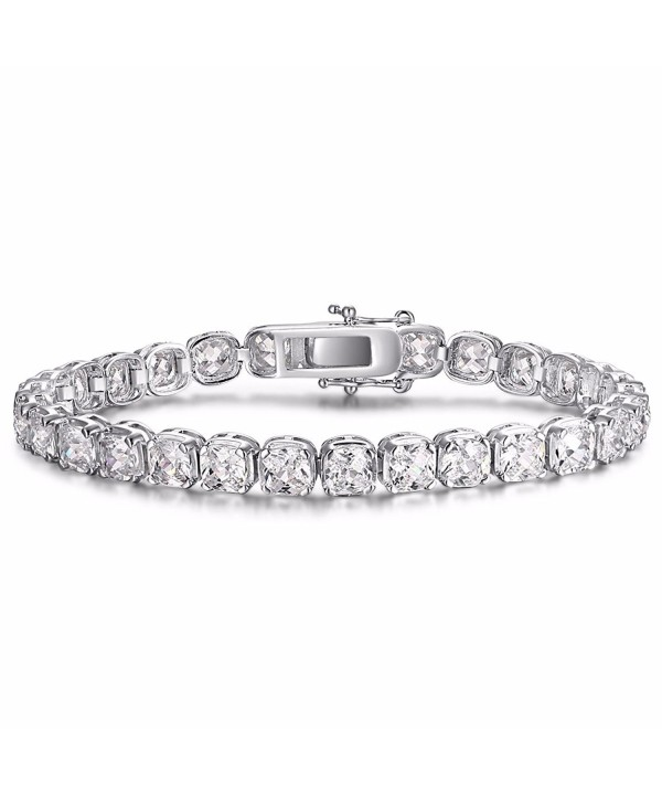 Caperci Silver Zirconia Tennis Bracelet