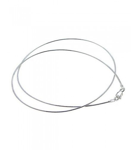 Sterling Silver Italian Omega Necklace